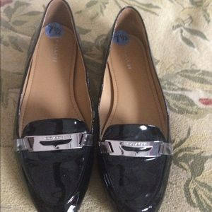 Coach black patent loafers NEW 7.5